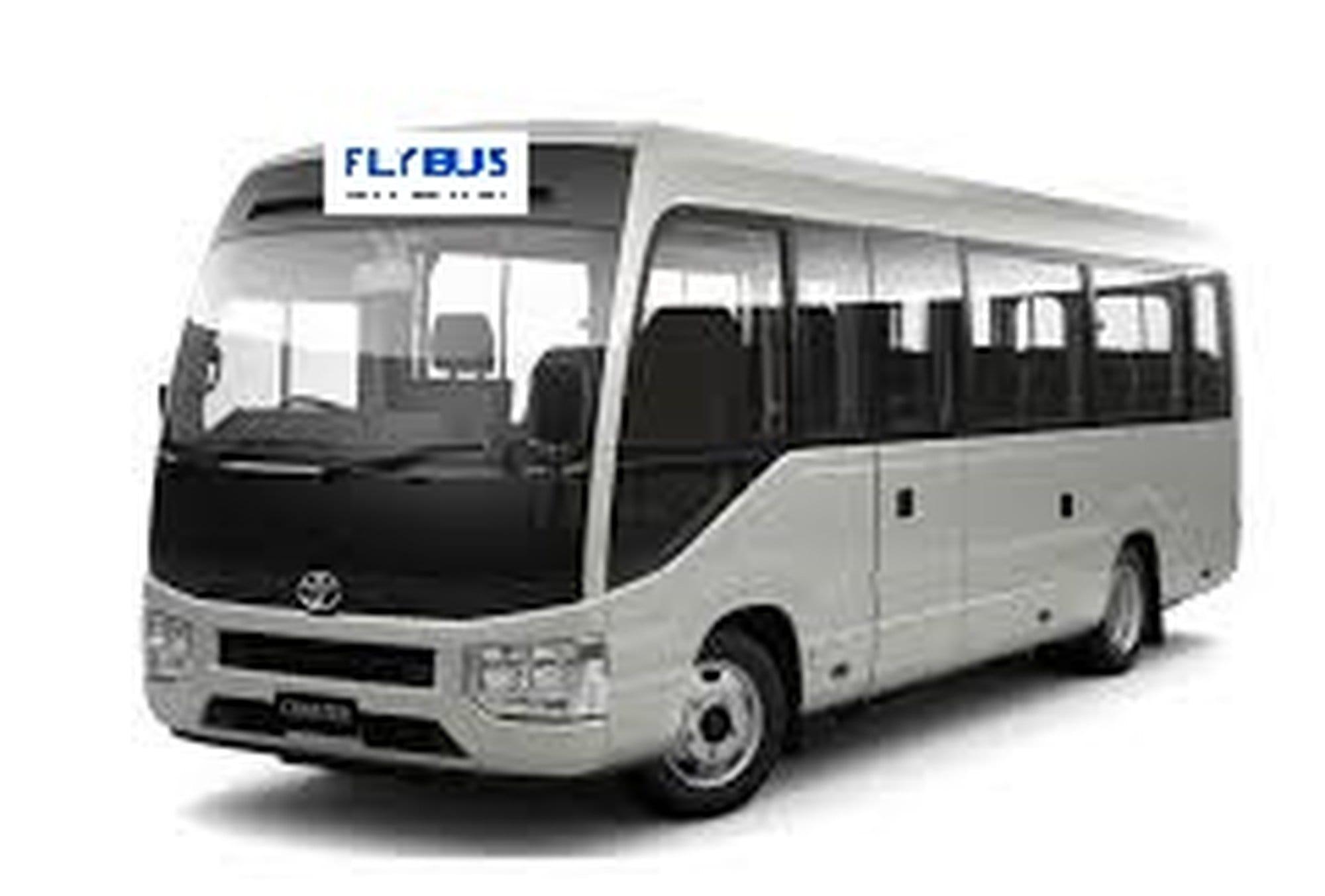 flybus minibus hire fleet 21 seater minibus white color